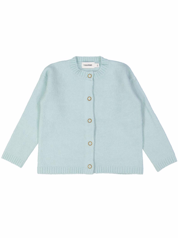 gilet tricot soft lichtblauw