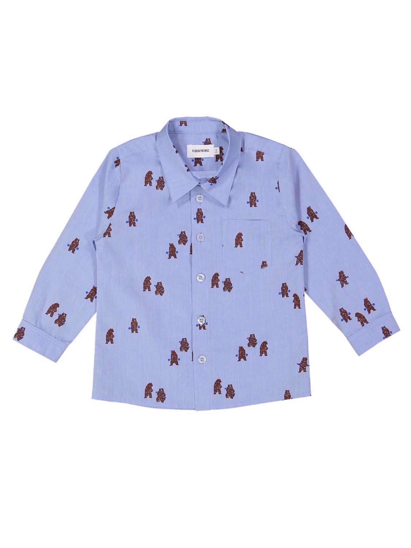 hemd power bears blauw