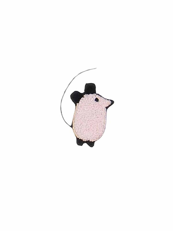 broche mouse roze