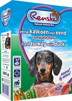 RENSKE GESTOOMD MET KALKOEN EN EEND 395GR