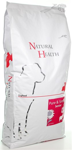 NATURAL HEALTH DOG LAM/RIJST SENIOR 12,5 KG