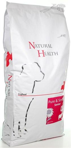NATURAL HEALTH DOG LAM/RIJST SENIOR 12,5 KG