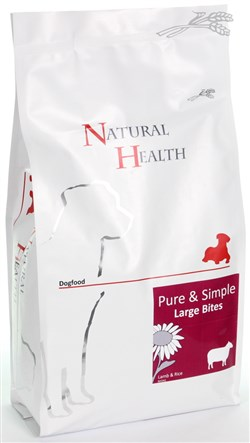 NATURAL HEALTH DOG LAM/RIJST LARGE BITE 2KG