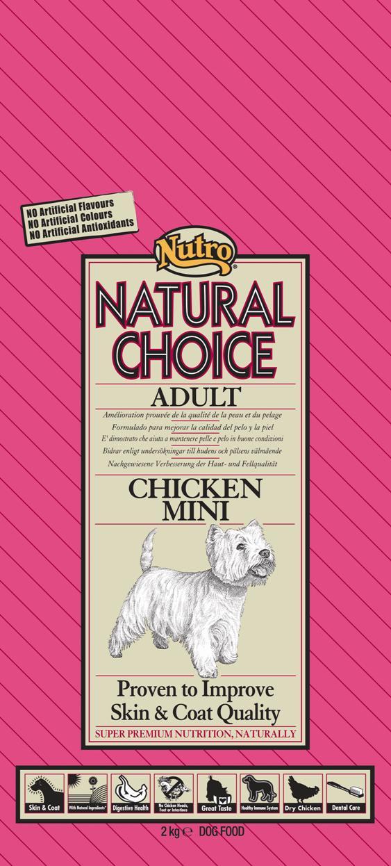 NUTRO ADULT MINI CHICKEN/RICE 2 KG