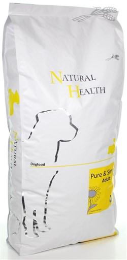 NATURAL HEALTH DOG KIP/RIJST 12,5 KG