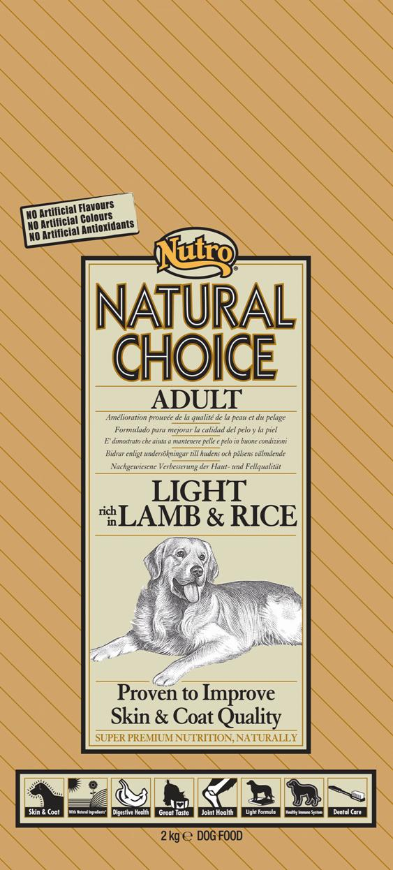 NUTRO ADULT LIGHT LAMB/RICE 2 KG