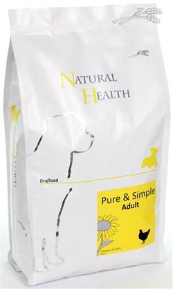 NATURAL HEALTH DOG KIP/RIJST 2,5KG