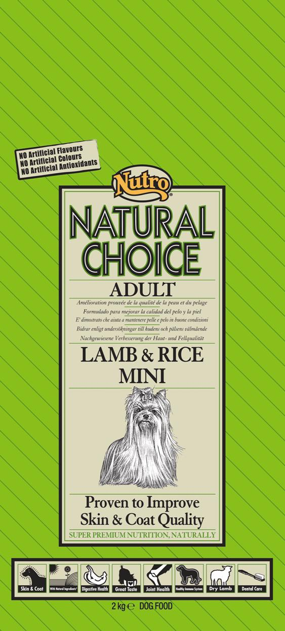 NUTRO ADULT MINI LAMB & RICE 7 KG