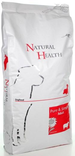 NATURAL HEALTH DOG LAM/RIJST ADULT 12,5 KG