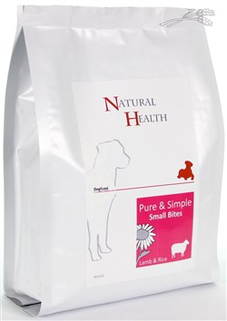 NATURAL HEALTH DOG LAM/RIJST SMALL BITES 0,4KG