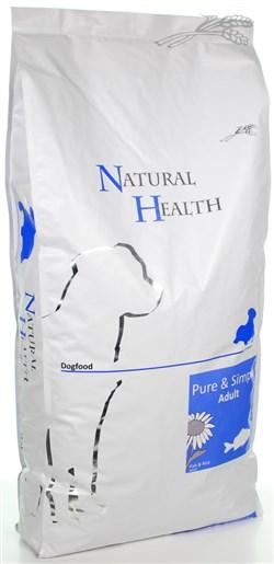 NATURAL HEALTH DOG VIS/RIJST 12,5 KG