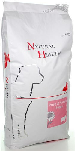 NATURAL HEALTH DOG LAM/RIJST PUPPY 12,5 KG