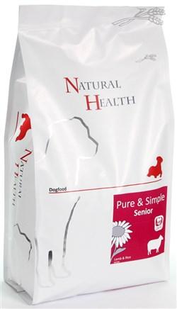 NATURAL HEALTH DOG LAM/RIJST SENIOR  2KG