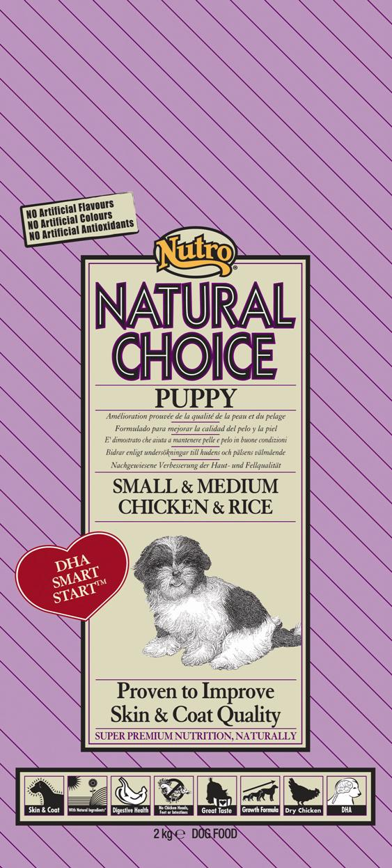 NUTRO PUPPY SMALL/MED CHICKEN/RICE 2KG