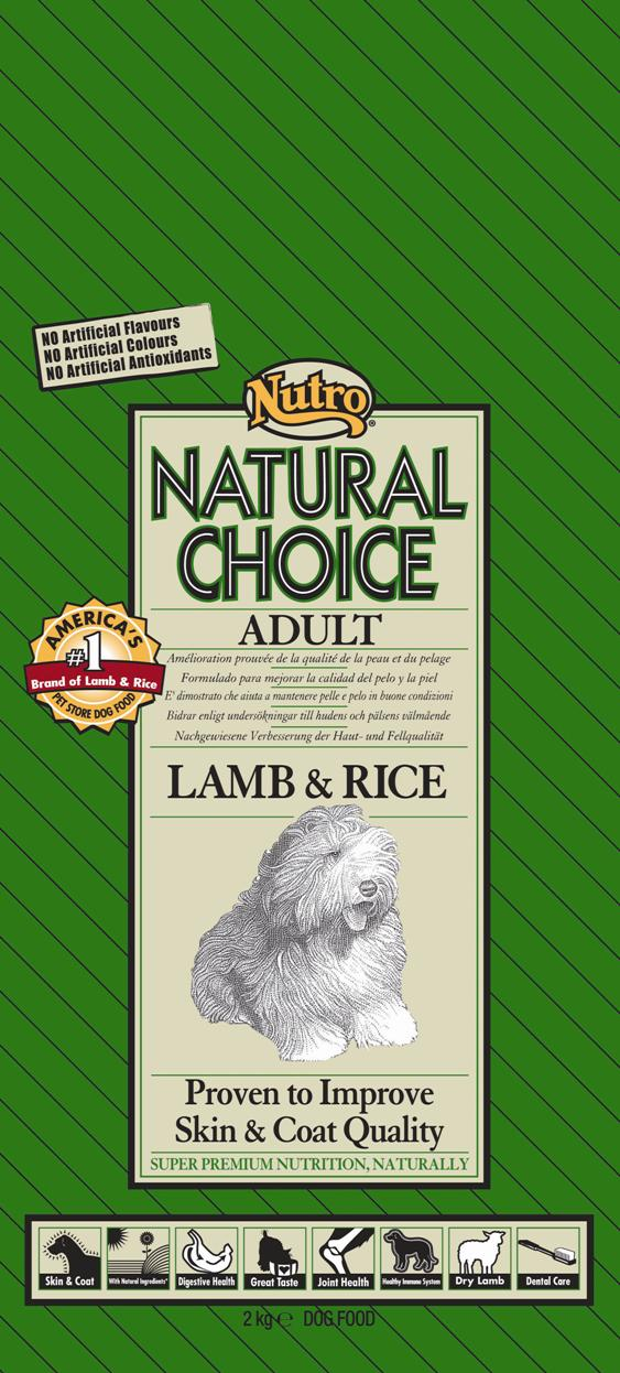 NUTRO ADULT LAMB/RICE 2 KG