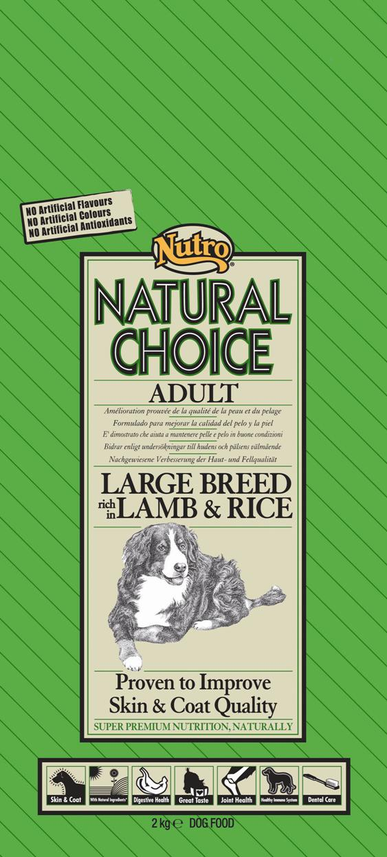 NUTRO ADULT LARGE LAMB/RICE 12 KG
