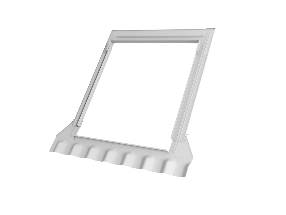 velux renovatiegootstuk mk04 aluminium 78x98 cm ombergrijs bouwmaat. Black Bedroom Furniture Sets. Home Design Ideas