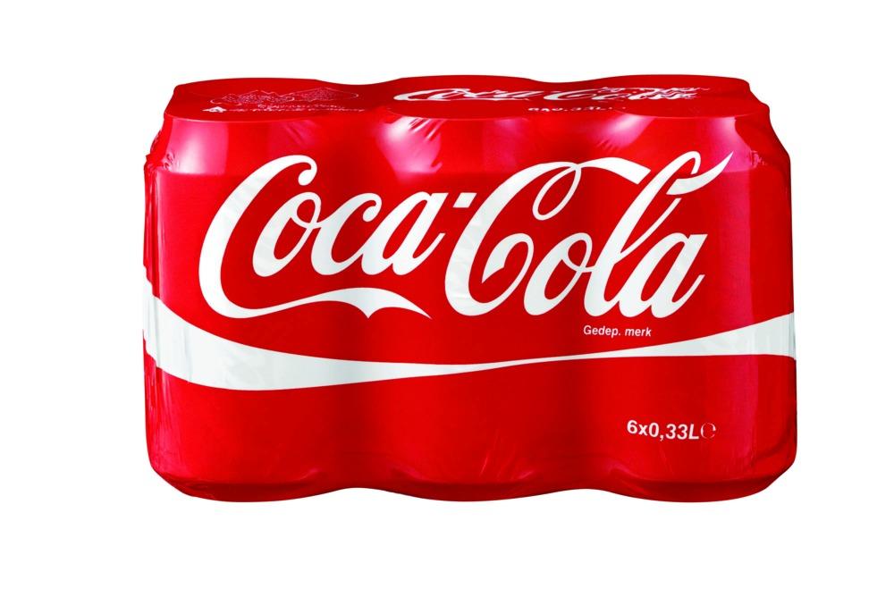 coca cola cola 33 cl in blik 6 stuks bouwmaat. Black Bedroom Furniture Sets. Home Design Ideas