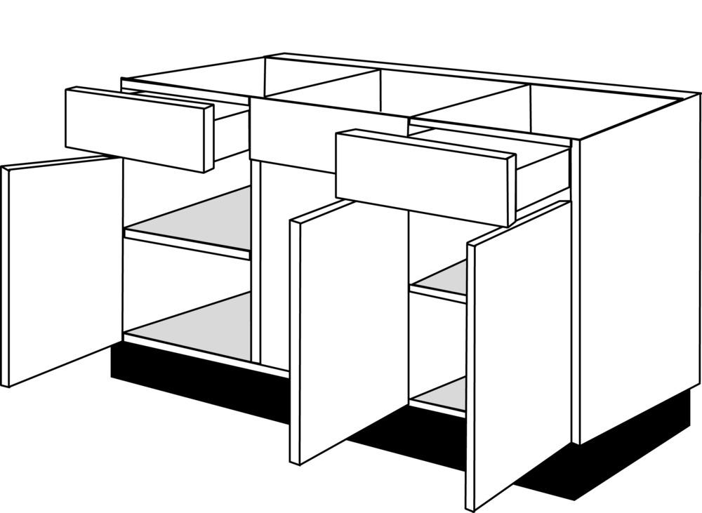 Standaard Keuken Maten : Onderkasten keuken bouwmaat