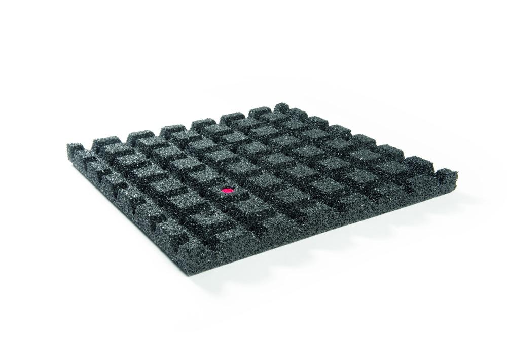 Drainage Tegels 50x50 : Granuflex® rubber tegel 50x50x4 cm zwart bouwmaat