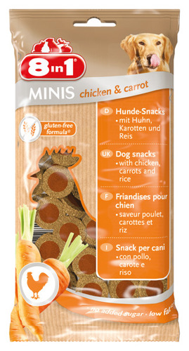 Minis chicken & carrot 100 g kip