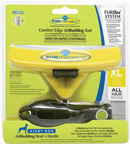FURflex Dog Deshedding tool incl. handvat Geel  Xlarge  16,5