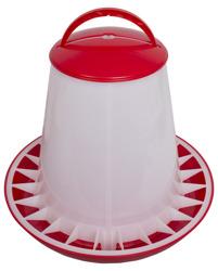 Voersilo plastic 10 kg rood