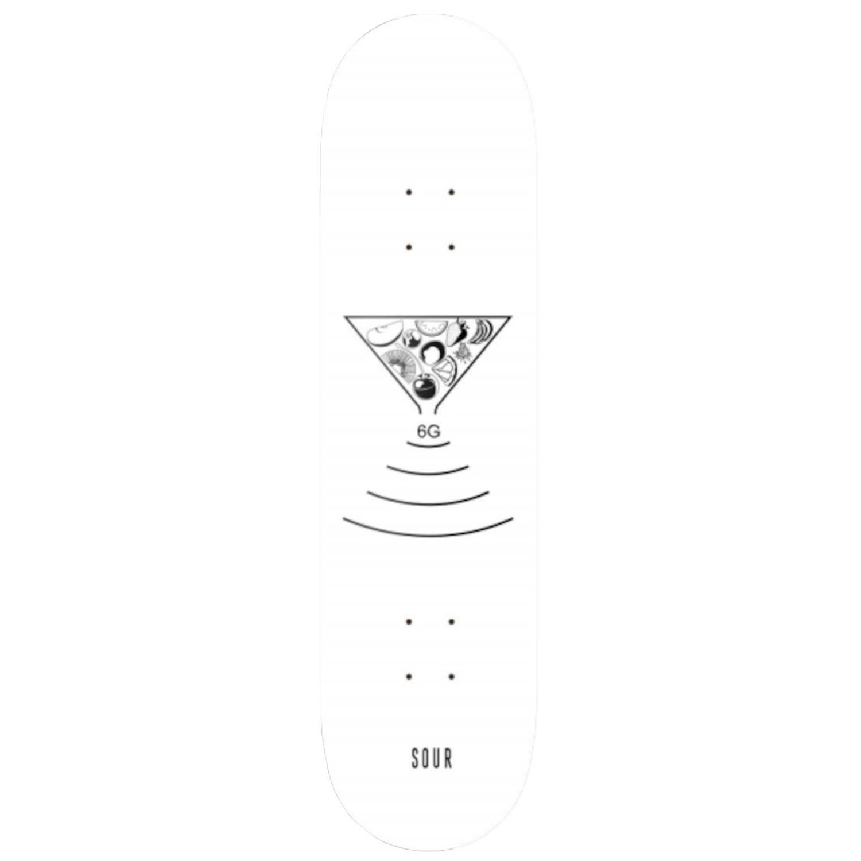 "SOUR 6G WHITE 7.25"" SKATEBOARD DECK"