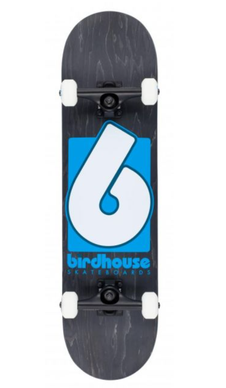 BIRDHOUSE STAGE 3 B LOGO COMPLETE SKATEBOARD - BLACK/BLUE