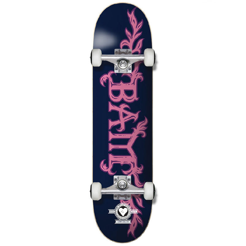 """HEART SUPPLY BAM MARGERA GROWTH PRO 8.0"""" SKATEBOARD COMPLETE - BLUE/PINK"""