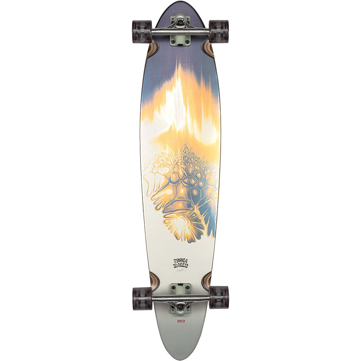 "GLOBE PINNER CLASSIC GOLD VEIN 9"" LONGBOARD COMPLETE"