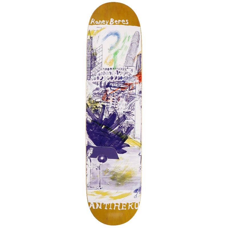 """ANTI HERO BERES SF THEN AND NOW 8.12"""" SKATEBOARD DECK"""