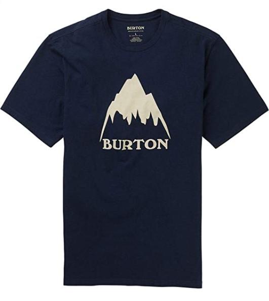 BURTON CLASSIC MOUNTAIN HIGH SHORT SLEEVE T-SHIRT - DRESS BLUE