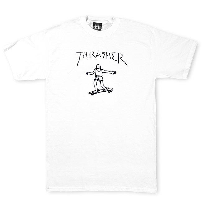 THRASHER GONZ LOGO SHORT SLEEVE T-SHIRT - WHITE