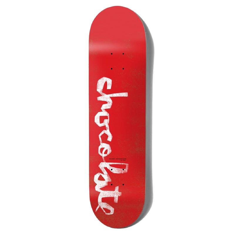 "CHOCOLATE ANDERSON OG CHUNK 8.0"" SKATEBOARD DECK - RED"
