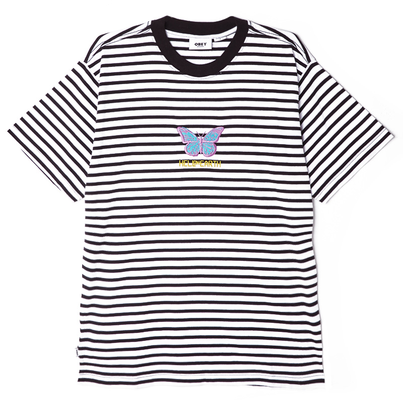 OBEY FISHER T-SHIRT - BLACK MULTI