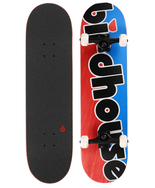 BIRDHOUSE STAGE 3 TOY LOGO COMPLETE SKATEBOARD - BLUE/RED