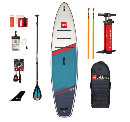 RED PADDLE CO TOURING SPORT CN 50 PACKAGE SUPBOARD SET