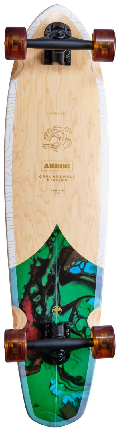 """ARBOR PERFORMANCE COMPLETE LONGBOARD 37"""" - GROUNDSWELL FISH"""