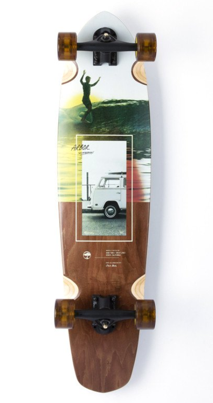 ARBOR MISSION PHOTO COLLECTION 35IN COMPLETE LONGBOARD - MULTI
