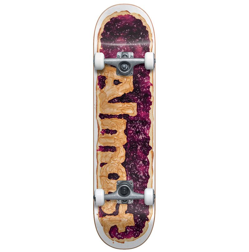 ALMOST PB&J YOUTH FIRST PUSH COMPLETE SKATEBOARD GRAPE 7.25