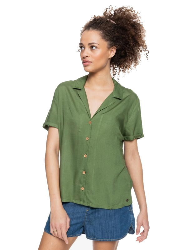 ROXY REMIND TO FORGET BLOUSE - VINEYARD GREEN