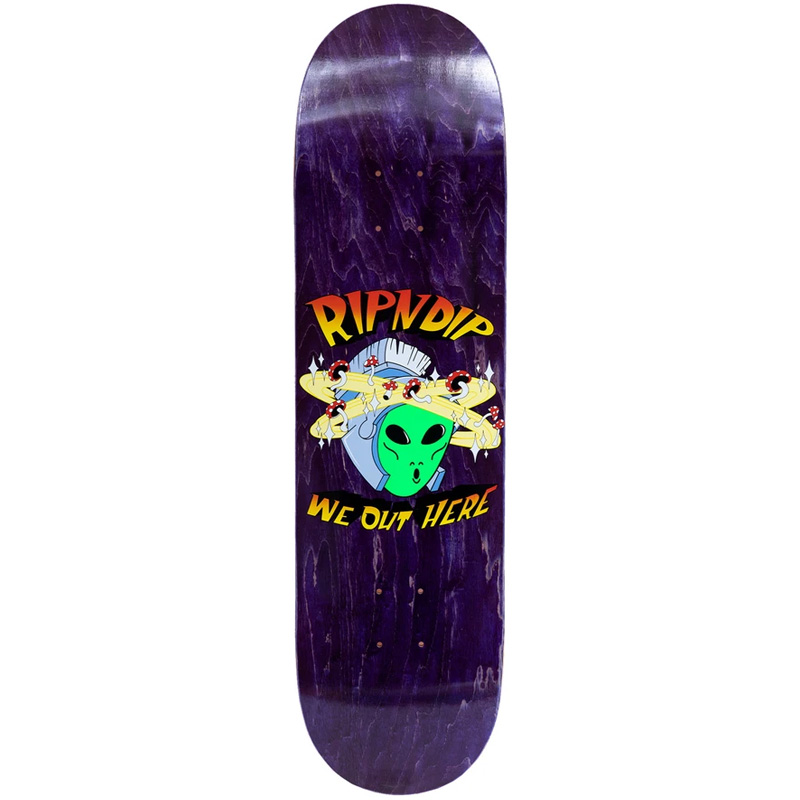 """RIPNDIP OUT OF THIS WORLD 8.0"""" SKATEBOARD DECK"""