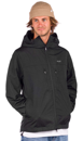 HUF ESSENTIALS ZIP STANDARD SHELL JAS - BLACK