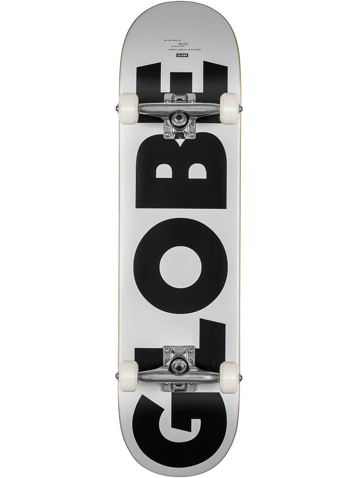"GLOBE G0 FUBAR 8"" SKATEBOARD COMPLETE - WHITE/BLACK"