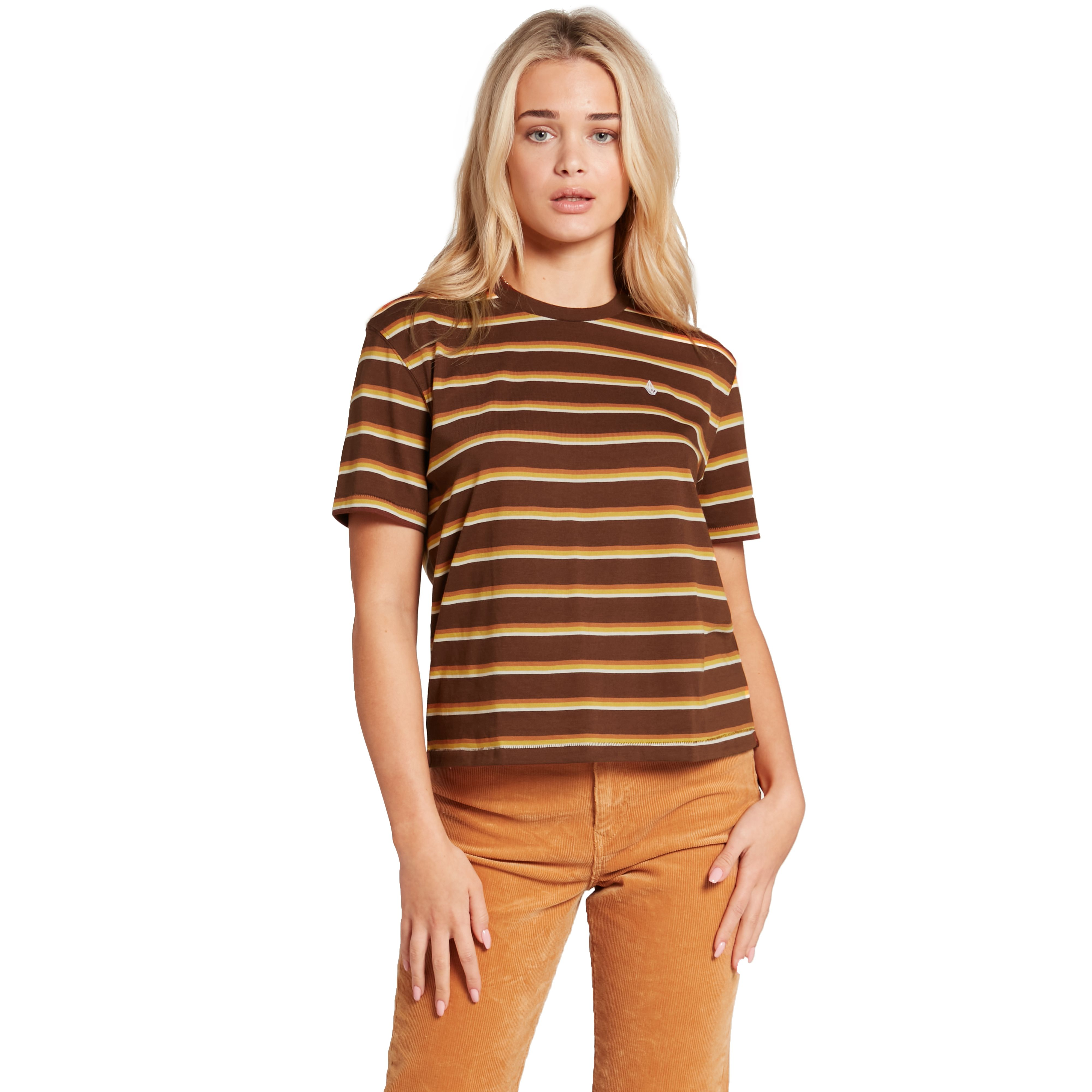 VOLCOM CHOICE IS YOURS SHORT SLEEVE T-SHIRT - BROWN