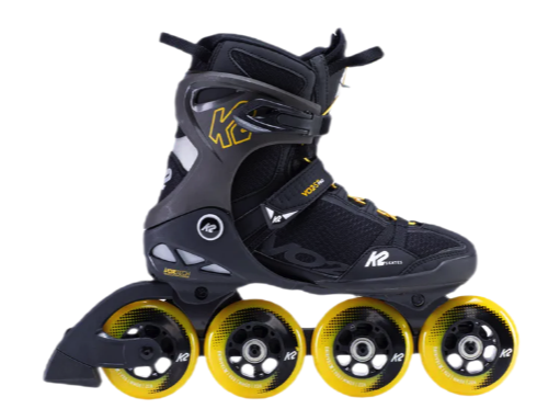 K2 SKATES VO2 S 90 MEN'S INLINE SKATES - BLACK/YELLOW