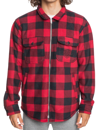 QUIKSILVER TOLALA POLAR FLEECE OVERSHIRT - BLACK TOLALA CHECK