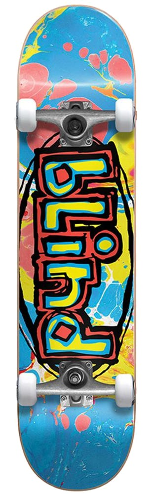 BLIND OG OVAL FIRST PUSH PREMIUM COMPLETE SKATEBOARD - MULTI COLOR