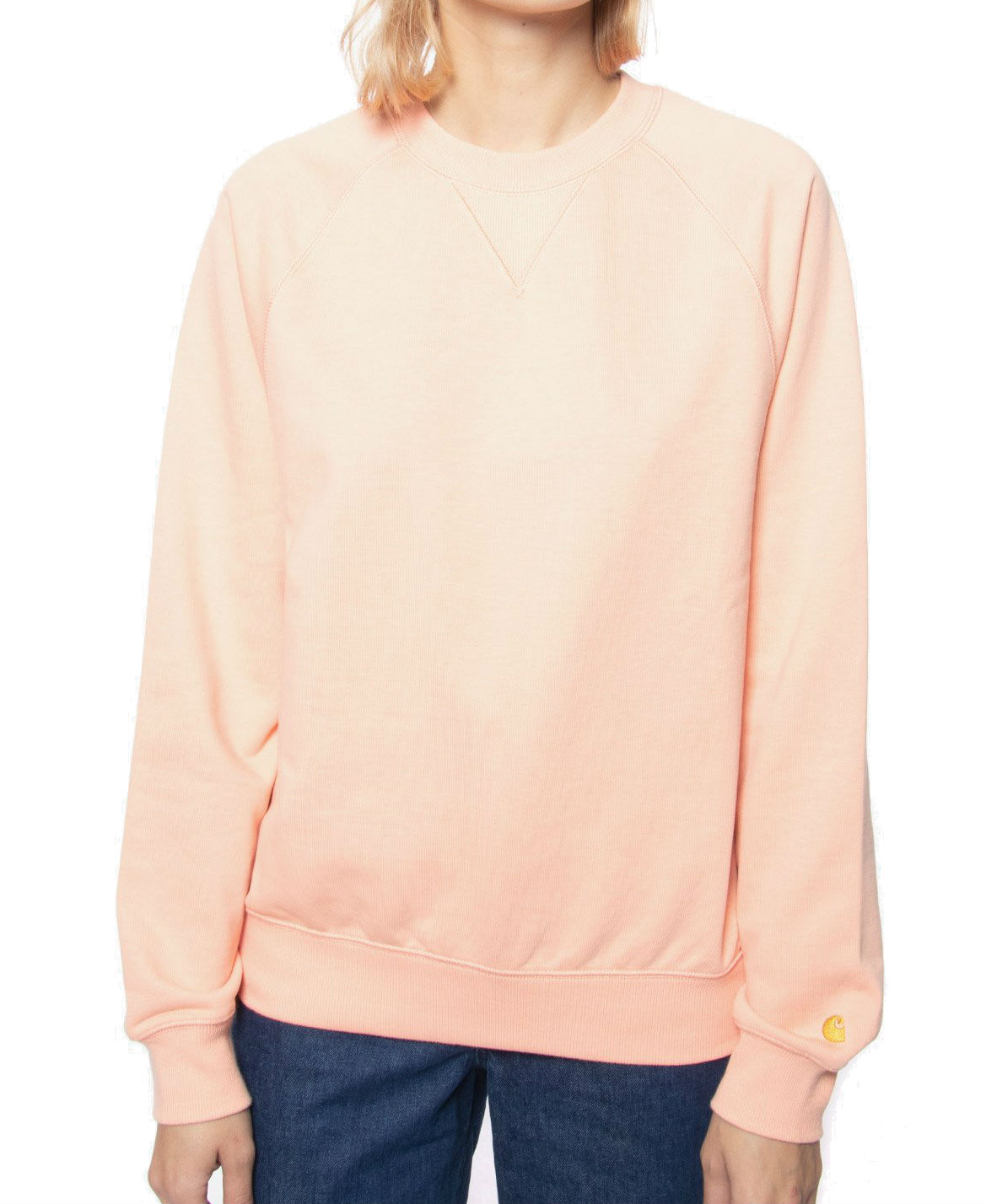 CARHARTT WIP W' CHASE SWEATER - PEACH/GOLD